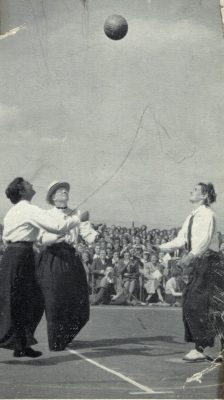 In 1901 the Rules stated the start of the game was by a toss-up across a much wider centre circle.  Looks like fun!!