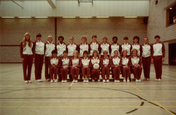 England large Squad 1983 Back Heather Crouch (Coach), Kendra Lowe, Maggie Llewelyn, Cynthia Wilson, Wendy Hale, Rosie Mayes, Gill Bickerstaff, Jan Larby, Joan Bryan, Lucia Sdao, Kim Lambden, Chris Dalglish, ???? Front Sharon Bent, Chris Worman, Sue Keal, Jillean Hipsey (Captain), Collette Thomson, LynnSheperd, Ann Cush, Helen Cadman
