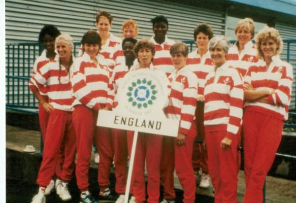 England Squad at 1987 WT Glasgow