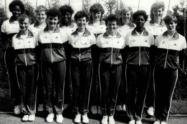 Back row:  Jesselyn Parkes (Birmingham), Karen Fenlon (Cheshire), Margaret Farrell (W. Yorkshire), Kendra Lowe (Hertfordshire), Margaret Lewellen (East Essex), Helen Cadman (Cheshire) Froan row: Ann Cush (Cumbria), Sheila Edwards (Surrey), Jillean Hipseay (Essex Met), Sue Keal (Middlesex), Joan Bryan (Birmingham), Colette Thompson (Birmingham)