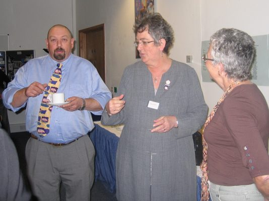 Mark and Cheryl Dewhirst with Joan Mills