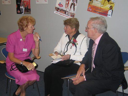Barbara and Bob Bishop with Phyllis Avery