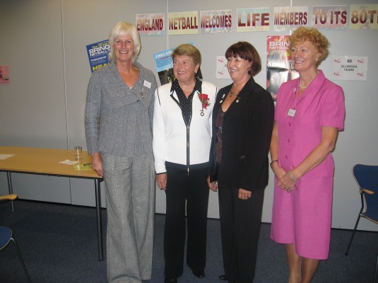 Chair, V. Chair, Presidents from Left to Right Heather Crouch, Phyllis Avery, Cheryl Danson, Barbara Bishop