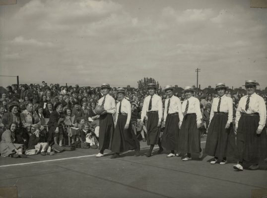 The 1901 team in their long skirts, blouses and ties. | The Associated Press