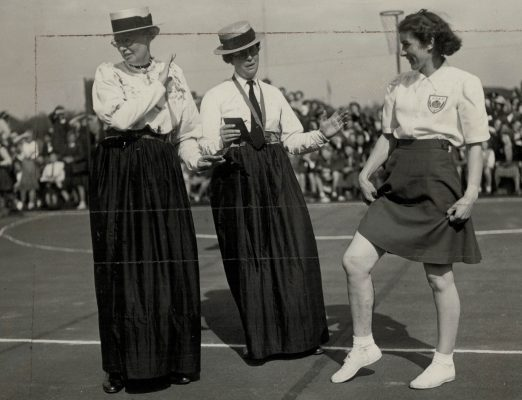 1949 Netball Fashion Past and Present, GEC Sports Ground, London, 7th May | Sport & General