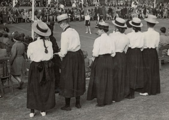 1949 Netball Fashion Past and Present, GEC Sports Ground, London, 7th May