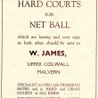 An advertisement for net ball courts