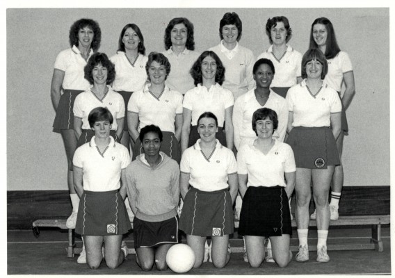 Back row - Pat Watson, Pat Meadows, Maggie Greatrex, Chris Maylor, Maddy Dwan, Denise Hunter Middle row - Jillean Hipsey, Carol Bretherton, Gill Davies, Jean Hornsby, Maggie Ghent Front row - Colette Thomson, ?, Helen Fradley, Sue Keal