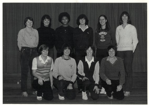 England Senior Squad Back row - ???, Kim Lambden, ???, ???, Denise Hunter, Gill Davies Front row - Colette Thomson, ???, Jillean Hipsey, Sue Keal