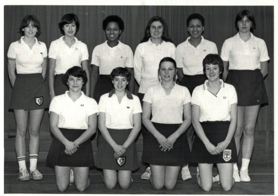 England Under 18 Squad Third in the back row is Desiree Mahoney.