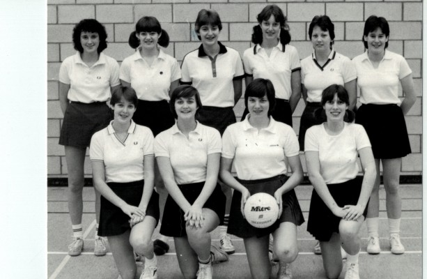 England Under 18 Squad Back row - ????, Karen Levitt, G. Kendrick, ????, A Mooney, ???? Front row - P. Sweeney, Wendy Hale, Kendra Lowe, D. Jackson