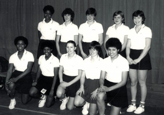 England Under 21 Squad Back row - Jesslyn Parkes, ????, Kendra Lowe, Sally Williams, Rowan Edbrooke Front row - Desi Mahoney (Desiree played for OPA, Essex Met) and next to her is Sonia Jessop from Beds County ????, ????, Sharon Bent