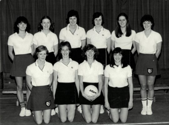England Team.  Back Row left to right:  Kim Marshall, Maggie Ghent, Chris Maylor, Maddie Dwan, Denise Hunter, Carol Bretherton.  Front Row left to right:  Colette Thomson, Gill Davis (VC), Jillean Hipsey (Captain), Helen Fradley