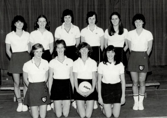 Team of 10 Back row - Kim Lambden, Maggie Ghent, Chris Maylor, Maddy Dwan, Denise Hunter, Carol Bretherton Front row - Colette Thompson, Gill Davies, Jillean Hipsey, Helen Fradley (Squires)