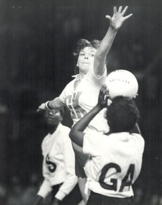Kendra Lowe defending shot for goal | Eileen Langsley