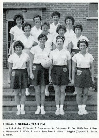 Sue Auton commented :    My Auntie, Ellen Marsh, my Mum, Mollie's, older sister!! Great memories of watching England Netball at Wembley Pool in the 60s! Ellen was a formidable and amazing woman who did such a lot for World netball! I remember too her life long friend Elsie Sanders, also a big part in netball! A fantastic time, I feel so proud to have witnessed that era!
