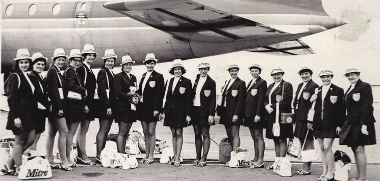 1970/71 England flying to the World Tournament
