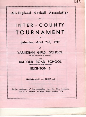1949 Inter-County Tournament Programme