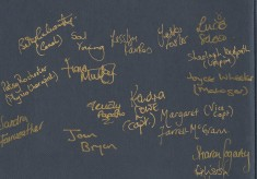 1991 World Netball Championships: a signed team photo