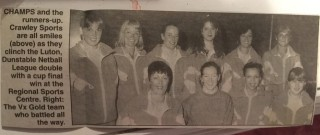 The Crawley Sports team, winners of the Luton, Dunstable Netball League.