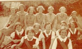 Alfred Barrow Girls'Central School. Junior and senior netball teams.