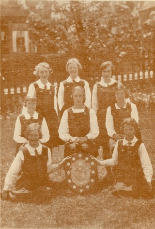 St Joseph's College Bradford. 1935 winners of the West Riding Net Ball League Shield