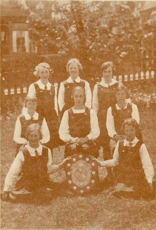St Joseph's College Bradford. 1935 winners of the West Riding Net Ball League Shield