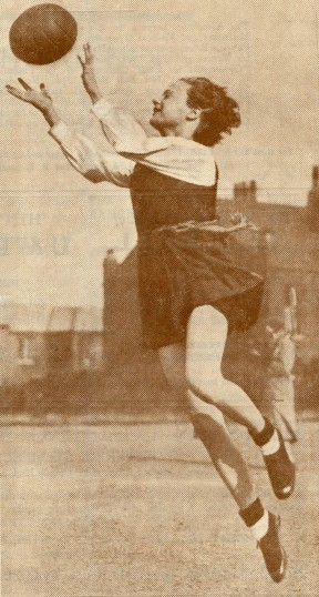 A player from the cover of a 1935 Net Ball magazine