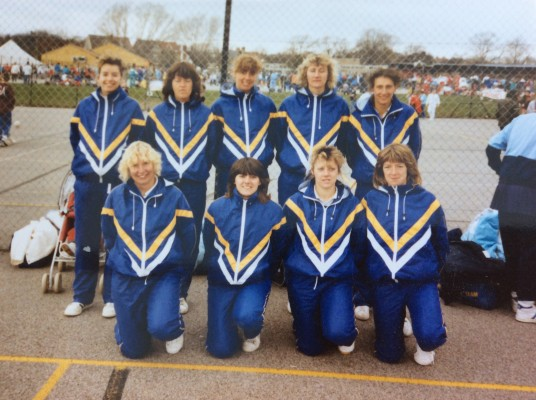 Sussex Team at Inter Counties 1985