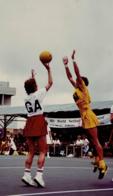 Jillean Hipsey shooting against Australian defence