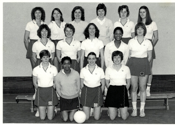 Full Senior Squad Back Row - Pat Watson, Pat Cane, Maggie Greatrex, Chris Maylor, Maddie Dwan, Denise Hunter Middle Row - Jillean Hipsey, Carol Bretherton, Gill Davies, Jean Hornsby, Maggie Ghent, Front Row - Colette Thompson, Connie Pennie, Helen Squires, Sue Keal