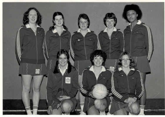 England Under 21 Squad Back Row - Martine Treagus, Marion Smith, Linda Dyer, Gill White, Loretta Bourne Front Row - Debbie Baird, Kim Lambden, Lesley Edmondson