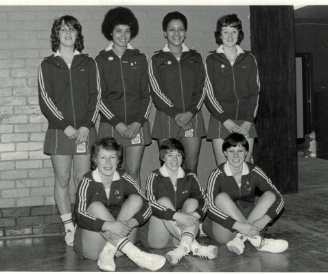 England Under 18 Squad Back Row - ??, Sharon Bent, ??, ?? Front Row - Cathy Woods, ??, ??