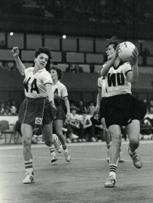 England WA, Helen Fradley tries to close down the New Zealand attack - Wembley