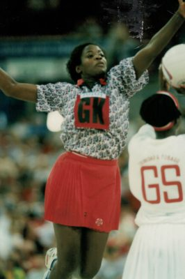 Cynthia Duncan in action against Trinidad & Tobago | Niels Carruthers