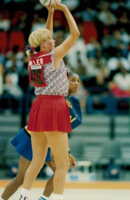 Tracey Miller shooting against Barbados. | Niels Carruthers