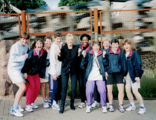 The braver element of the England Squad after going on Nemesis at Alton Towers | Carol Spencer