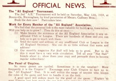1933 All England Women's Net Ball Association