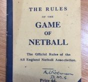 Netball Rules 1947/1948 - Today's 'toss up' was 'the bounce'