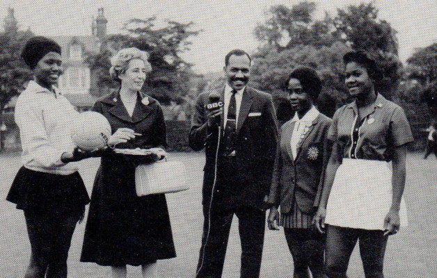 Mary covering the 1st World Tournament in Eastbourne in 1963 for the BBC Caribbean Service
