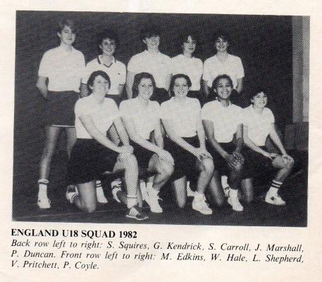 Back row l-r : S Squires, G Kendrick, S Carroll, J Marshall, P Duncan. Front row l-r : M Edkins, Wendy Hales, L Shepherd, V Pritchett, P Coyle