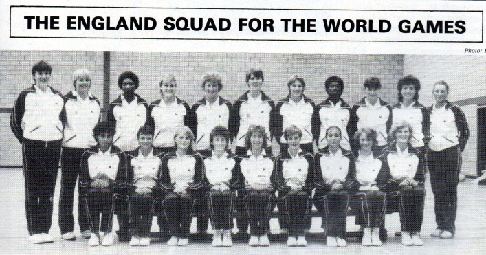 England Squad for the 1985 World Games