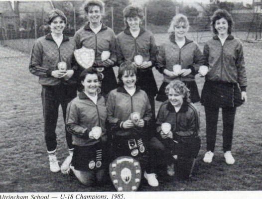 1985 U18 Champions - Altrincham School