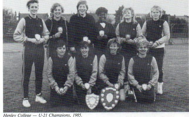 1985 U21 Champions - Henley College