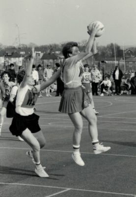 Herts with the ball against Beds