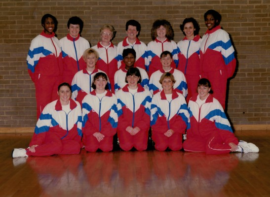 Back row L to R - Helen Manufor, Sheila Hartley, Sue Danson (Physio), Liz Broomhead (Coach), Carol Spencer (Squad Manager), Louise Sheridan, Cynthia Duncan Middle row L to R - Tracey Miller, Maggie Farrell, Lucia Sdao Front row L to R - Wendy Hale, Fiona Murtagh, Kendra Slawinski, Sharon Fogarty, Joanne Hall