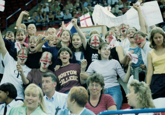 Enthusiastic spectators