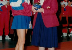 1993 Kendra Slawinski awarded 100th Cap at Wembley