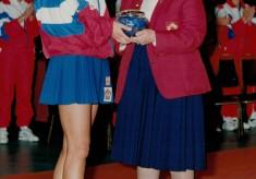 1993 Kendra Slawinski awarded 100th Cap at Wembley