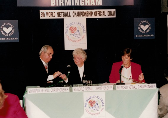 World Tournament draw taking place in Birmingham with the Mayor of Birmingham, Pat Taylor and Liz Nichol